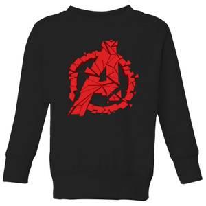 Avengers Endgame Shattered Logo Kids' Sweatshirt - Black