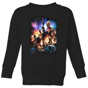 Avengers Endgame Character Montage Kids' Sweatshirt - Black