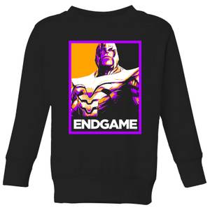 Avengers Endgame Thanos Poster Kids' Sweatshirt - Black