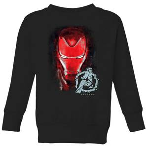 Avengers Endgame Iron Man Brushed Kids' Sweatshirt - Black