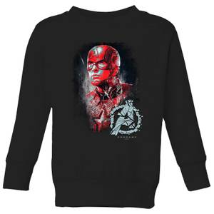 Sweat-shirt Avengers Endgame Captain America Brushed - Enfant - Noir