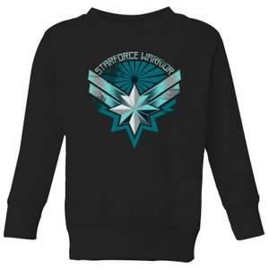 Captain Marvel Starforce Warrior Kids' Sweatshirt - Black