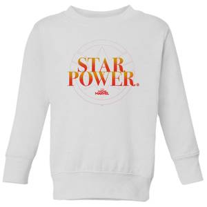 Captain Marvel Star Power Kids' Sweatshirt - White