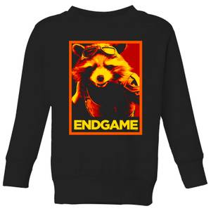 Avengers Endgame Rocket Poster Kids' Sweatshirt - Black