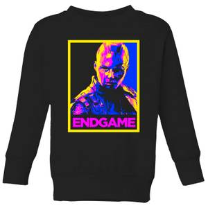 Avengers Endgame Nebula Poster Kids' Sweatshirt - Black