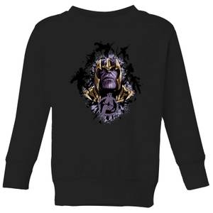 Avengers Endgame Warlord Thanos Kids' Sweatshirt - Black