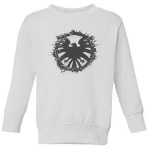 Marvel Avengers Agent Of SHIELD Logo Brushed Kids' Sweatshirt - White