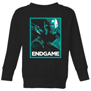 Avengers Endgame War Machine Poster Kids' Sweatshirt - Black