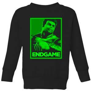 Avengers Endgame Hulk Poster Kids' Sweatshirt - Black