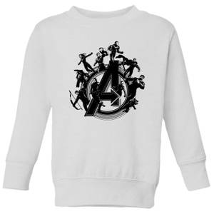 Avengers Endgame Hero Circle Kids' Sweatshirt - White