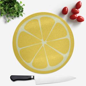 Lemon Round Chopping Board
