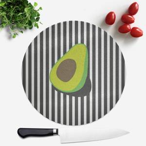 Avocado And Stripes Round Chopping Board