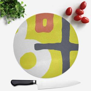 Abstract Green Red Blue Pattern Round Chopping Board