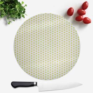 Lime Green Polka Dot Round Chopping Board