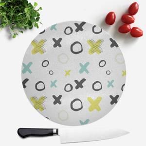 XO Pattern Round Chopping Board