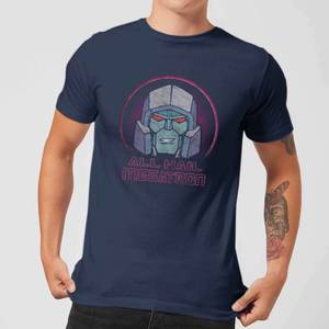 Transformers All Hail Megatron Men's T-Shirt - Navy