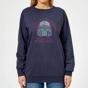 Transformers All Hail Megatron Women's Sweatshirt - Navy