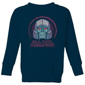 Transformers All Hail Megatron Kids' Sweatshirt - Navy