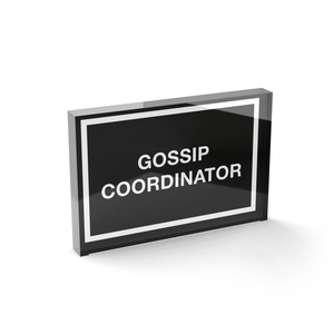 Glass Block Gossip Coordinator Glass Block - 80mm x 60mm