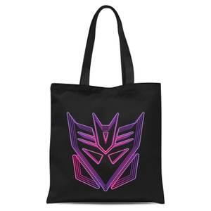 Transformers Neon Decepticon Tote Bag - Black