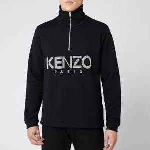 KENZO Men's Paris Half Zip Sweatshirt - Black