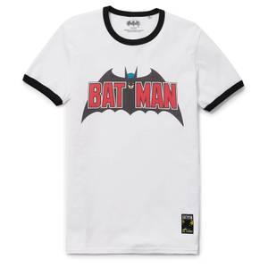 Batman 80th Anniversary 70s Super Ringer T-Shirt - White/Black