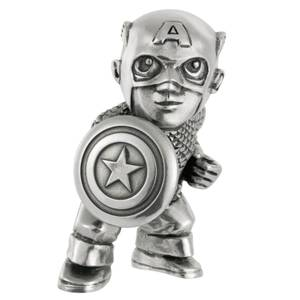 Mini-figurine Captain America en étain Marvel - 5cm - Royal Selangor