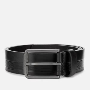 BOSS Men's Tylir Stripe Belt - Black