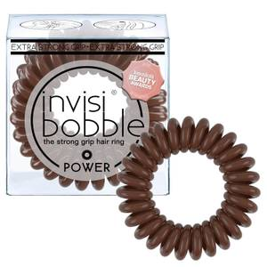 invisibobble Power Strong Hold Hair Ties - Pretzel Brown (Pack of 3)