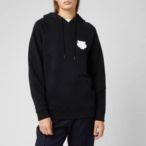 KENZO Women's Tiger Crest Cotton Moleton Hoodie - Black