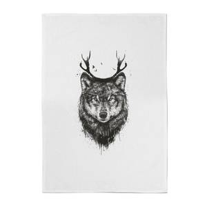 Wolf Cotton Tea Towel