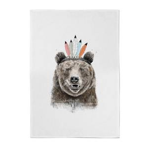 Native Bear Cotton Tea Towel