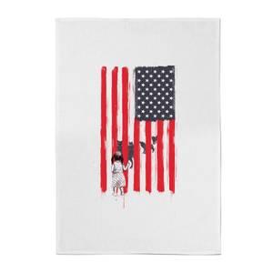 USA Cage Cotton Tea Towel