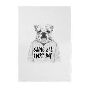 Same Shit Every Day Cotton Tea Towel