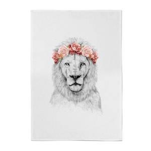 Lion And Flowers Cotton Tea Towel