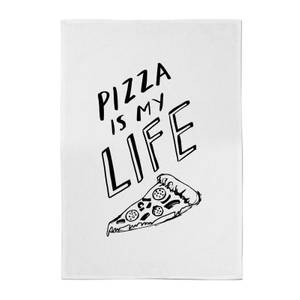 Rock On Ruby Pizza Is My Life Cotton Tea Towel