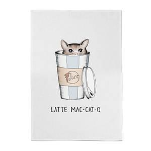 Barlena Latte Mac-Cat-O Cotton Tea Towel