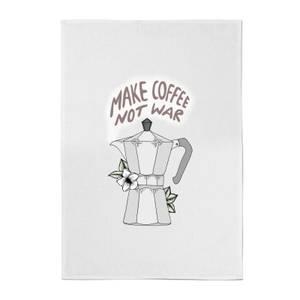 Barlena Make Coffee Not War Cotton Tea Towel