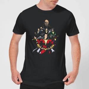 Shazam Team Up Men's T-Shirt - Black