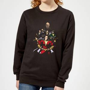 Shazam Team Up Women's Sweatshirt - Black