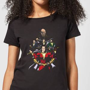 Shazam Team Up Women's T-Shirt - Black