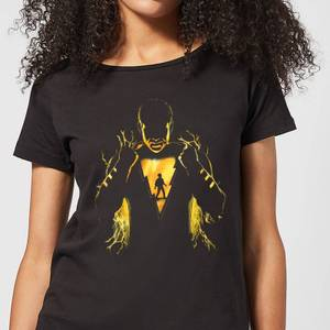 Shazam Lightning Silhouette Women's T-Shirt - Black