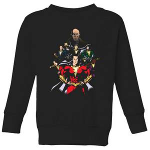Shazam Team Up Kids' Sweatshirt - Black