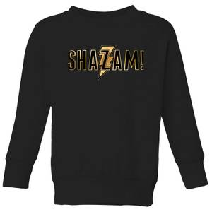 Shazam Gold Logo Kids' Sweatshirt - Black