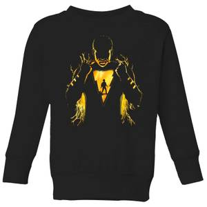 Shazam Lightning Silhouette Kids' Sweatshirt - Black