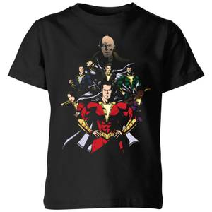 Shazam Team Up Kids' T-Shirt - Black