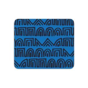 Mouse Mats Aztec Blue Pattern Mouse Mat