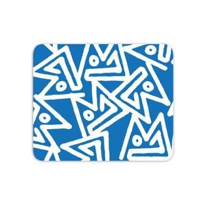 Mouse Mats Aztec Triangular Blue Pattern Mouse Mat