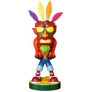 Crash Bandicoot Cable Guy Aku Aku Crash 8 Inch Cable Guy Controller and Smartphone Stand