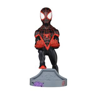 Marvel's Spider-Man Collectible Miles Morales 8 Inch Cable Guy Controller and Smartphone Stand